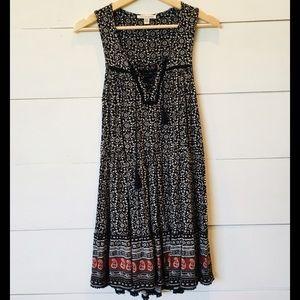 AMERICAN EAGLE Boho Tiered Dress XSmall EUC